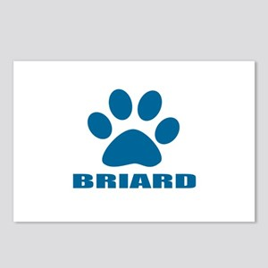 Briard Dog Designs Postcards (Package of 8)