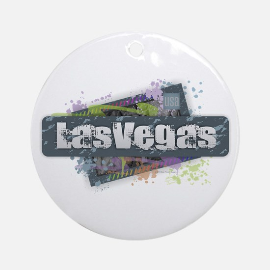 Las Vegas Design Round Ornament