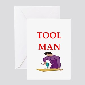 tool man Greeting Cards