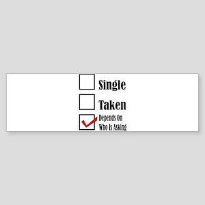 Single ready to mingle Bumper Sticker