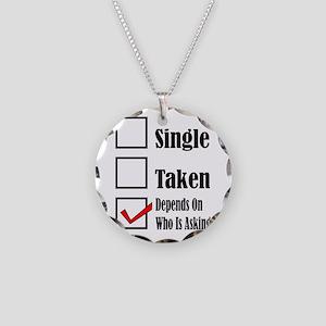 Single ready to mingle Necklace Circle Charm