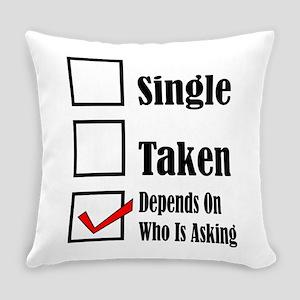 Single ready to mingle Everyday Pillow