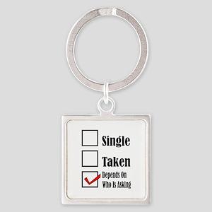 Single ready to mingle Keychains