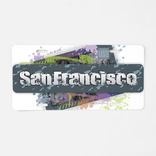 San Francisco Design Aluminum License Plate
