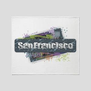 San Francisco Design Throw Blanket