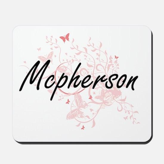 Mcpherson surname artistic design with B Mousepad