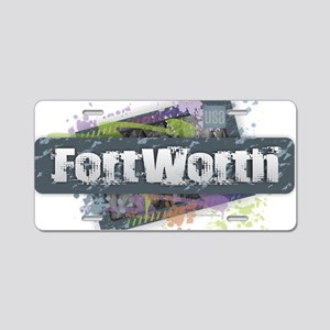 Fort Worth Design Aluminum License Plate