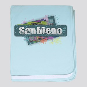 San Diego Design baby blanket