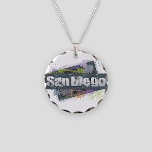 San Diego Design Necklace Circle Charm