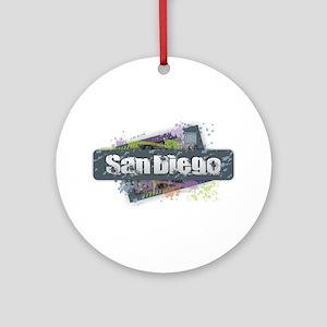 San Diego Design Round Ornament