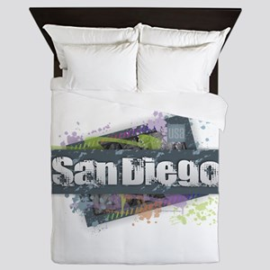 San Diego Design Queen Duvet