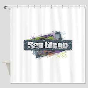 San Diego Design Shower Curtain