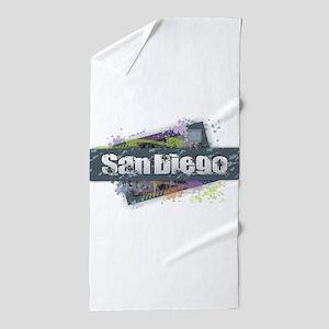San Diego Design Beach Towel