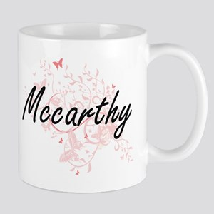 Mccarthy surname artistic design with Butterf Mugs