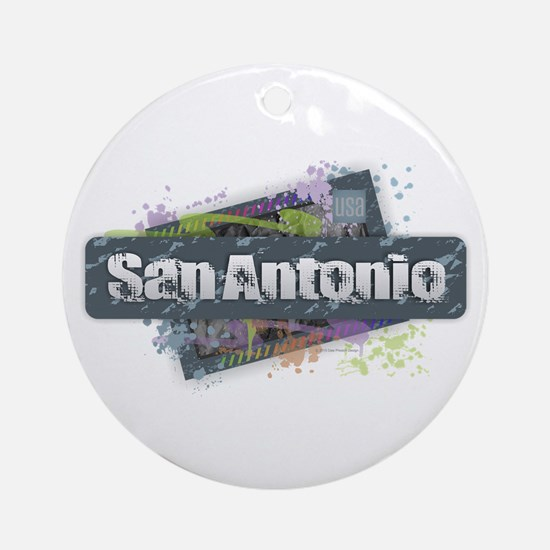 San Antonio Design Round Ornament