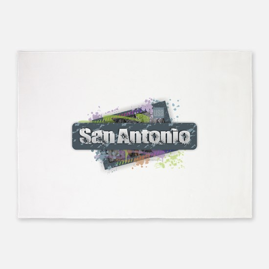 San Antonio Design 5'x7'Area Rug