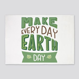 Every Day Earth Day 5'x7'Area Rug