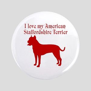 """I Love my Dog 3.5"""" Button"""