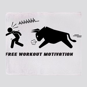 Sports Fitness Funny Motivation Throw Blanket