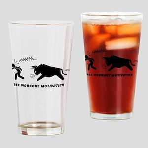 Sports Fitness Funny Motivation Drinking Glass