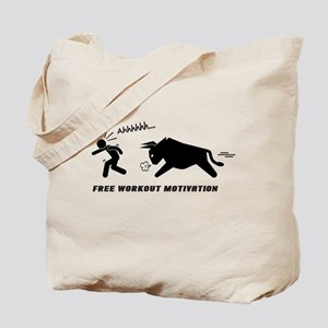 Sports Fitness Funny Motivation Tote Bag