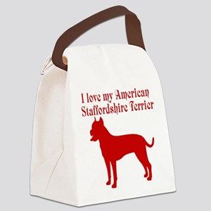 I Love my Dog Canvas Lunch Bag