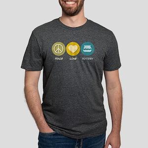 Peace Love Pottery Women's Dark T-Shirt