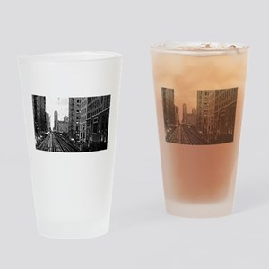CTA Brown Line Drinking Glass