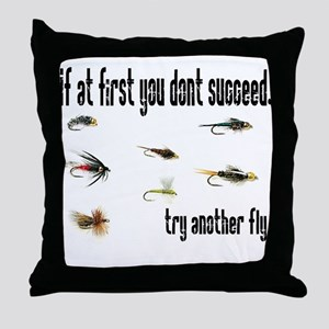 If at first you dont succeed, Throw Pillow