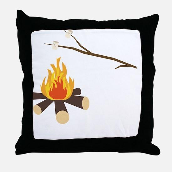 Unique Bonfire Throw Pillow