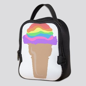 ice cream rainbow scoops Neoprene Lunch Bag