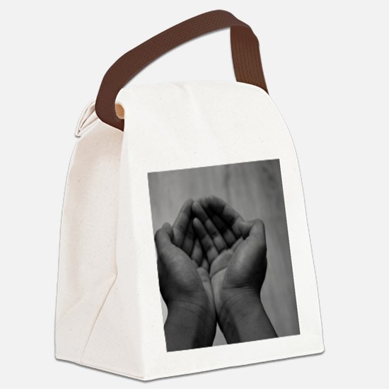 Cute Human need Canvas Lunch Bag