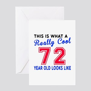 really cool 72 birthday designs greeting card