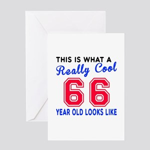 Really Cool 66 Birthday Designs Greeting Card