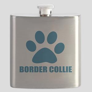 Border Collie Dog Designs Flask
