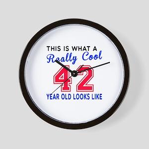 Really Cool 42 Birthday Designs Wall Clock