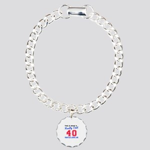 Really Cool 40 Birthday Charm Bracelet, One Charm