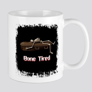 Bone Tired Skeleton Mugs