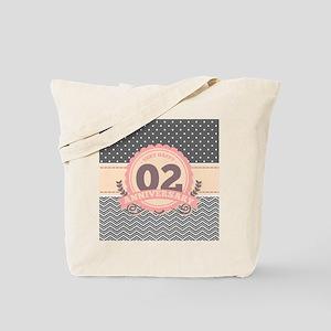 2nd Anniversary Gift Chevron Dots Tote Bag