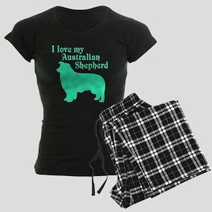 I Love my Dog Women's Dark Pajamas