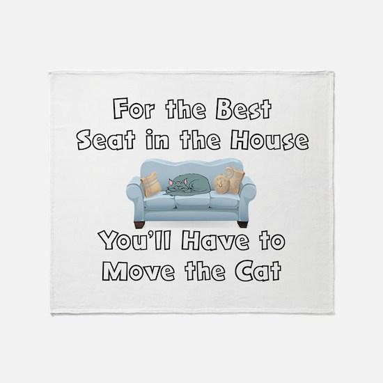 BEST SEAT, MOVE CAT Throw Blanket
