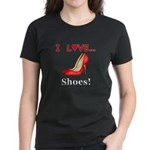 I Love Shoes Women's Dark T-Shirt