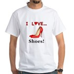 I Love Shoes White T-Shirt