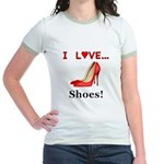 I Love Shoes Jr. Ringer T-Shirt