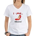I Love Shoes Women's V-Neck T-Shirt