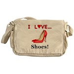 I Love Shoes Messenger Bag