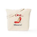 I Love Shoes Tote Bag
