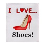 I Love Shoes Throw Blanket