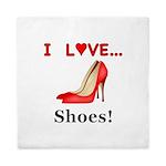 I Love Shoes Queen Duvet