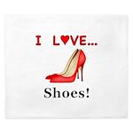 I Love Shoes King Duvet